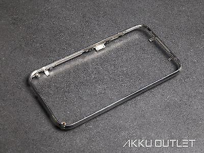 iPhone 3G 3GS Mittelrahmen Metall Rahmen Frame Bezel Chromring Frontcover Silber Bezel Frame Cover