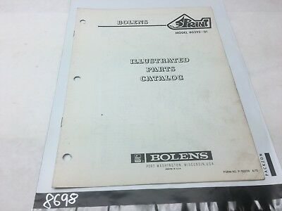 Bolens Snowmobile Sprint Model 80292-01 Illustrated Parts Catalog