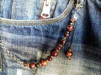 Catena Pantalone Jeans Uomo Con Pietra Modello Tigre Rossa - catena - ebay.it