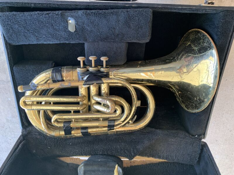 Vintage Blessing USA Mellophone Horn for parts or repair project