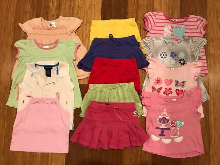 Girls Summer Clothes - Size 1 - shorts & t shirts