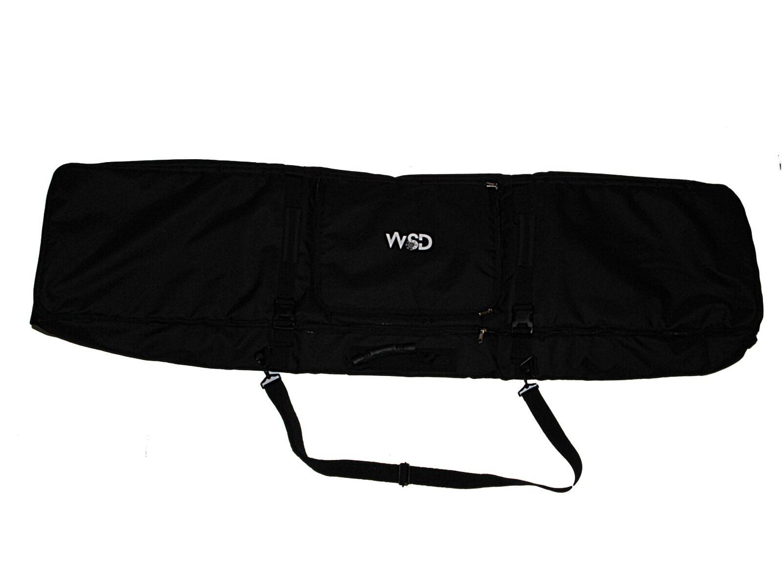 Fully Padded Travel black Ski Snowboard Bag with Wheels Wheeled WSDno box 155cm