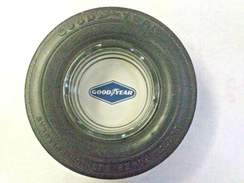 GOODYEAR Rubber Tire Ashtray Custom Power Cushion Polyglas Black 6 in.NOS