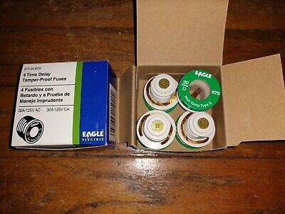 New Eagle Electric Type S 30 Amp Time Delay Fuse - Lot Of 8 Fuses