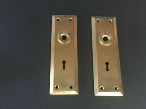 Vintage Brass Doorknob Back Plates x 2- new old stock