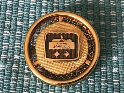 Vintage Howard Johnson's Hotel 1/10 10KGF Service Pin