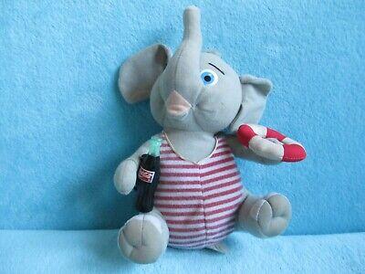 "Play By Play USA Coca Cola - SWIMWEAR ELEPHANT - Soft Plush Stuffed Toy Doll 9"""