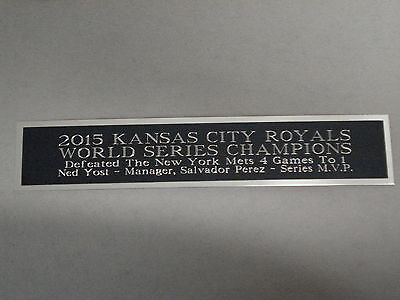 Kansas City Royals World Series Nameplate for a Baseball Display Case 1.25 x 6