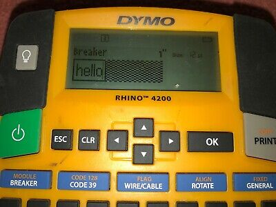 Dymo Rhino 4200 Industrial Label Maker Pre-owned