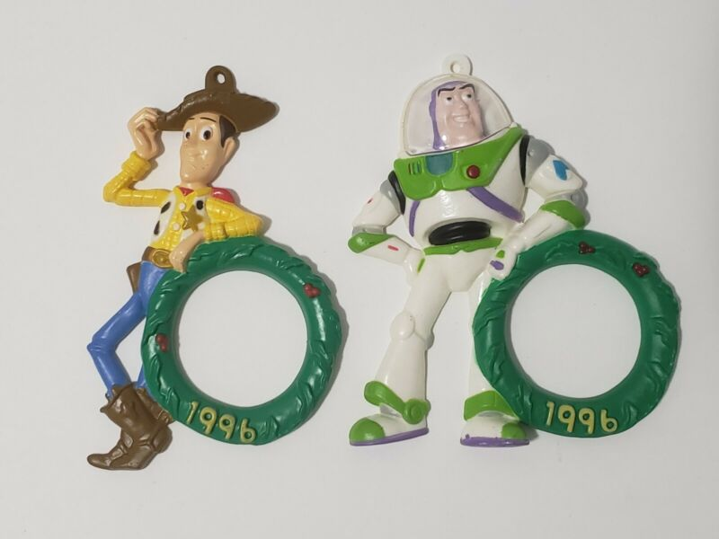 """1996 Toy Story Ornament - Woody & Buzz Light Year 4"""" Tall Christmas Ornaments"""