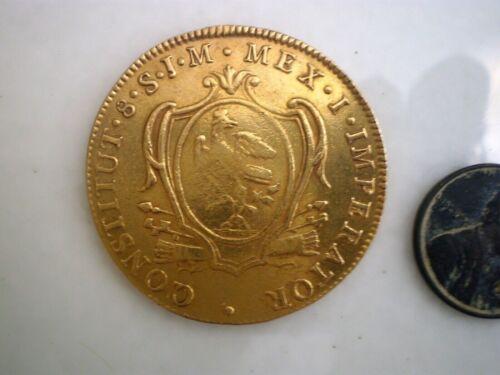 1823 MEXICO 8 ESCUDOS (DOLLARS) PESOS GOLD COIN RARE