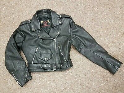 Sardar Vintage Leather Jacket, Size S, Womens, Biker/ Perfecto Style, Batwing,80