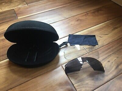 Lot Of 2 Oakley M Frame Ballistic SI Lenses - Clear And Dark - Case Included