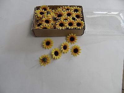 100 Sonnenblumen Köpfe 35mm Blüten Streublumen Blüten Sonnenblume Blütenköpfe