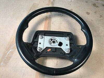 87-93 OEM Cadillac Allante Steering Wheel assembly black leather wrapped