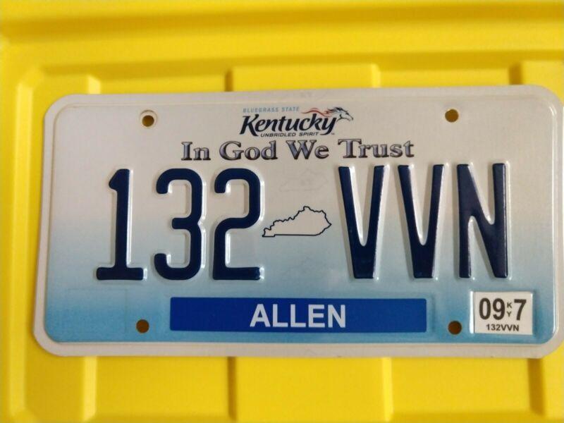 2009 Kentucky License Plate (132 VVN)