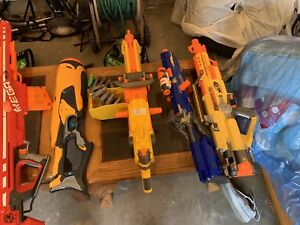 Lots of nerf guns and accessories for sale at great prices