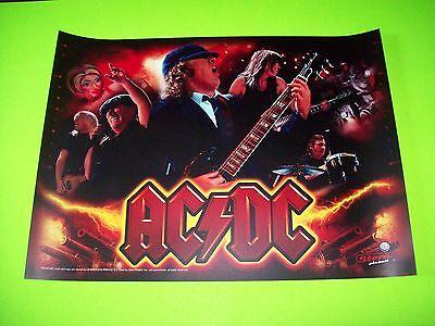 AC/DC Original NOS Pinball Machine Translite Art Sheet Hard Rock Heavy Metal