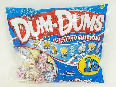 Dum Dums 1Lb Bag Limited Edition Assorted Flavors 04/01/2021 - Dum Dum Flavors