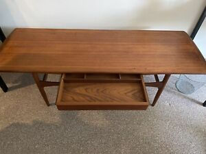 Vintage Arrebo Møbler Danish Teak Coffee Table with Drawer ...