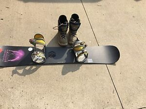 Snowboard and Boots for Sale