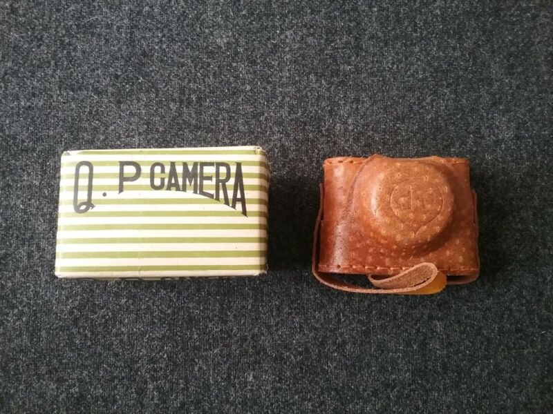 QP Miniature SPY CAMERA Japan Leather Case New Old Stock in BOX