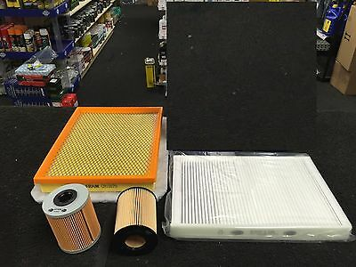 VAUXHALL ASTRA H 1.7CDTI OIL AIR FUEL POLLEN CABIN FILTER SERVICE KIT