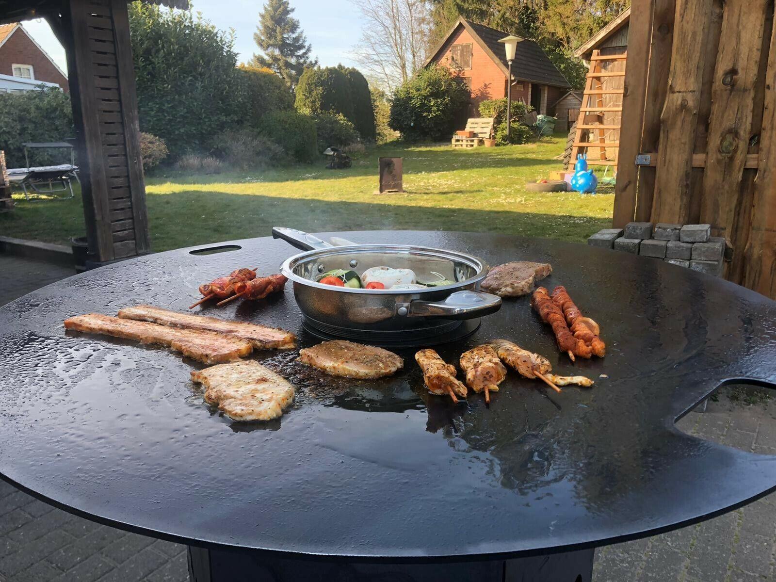 Feuerplatte Plancha Grillplatte 5  6  8 mm  80  90  100 cm Grill GN-Behälter 1/9