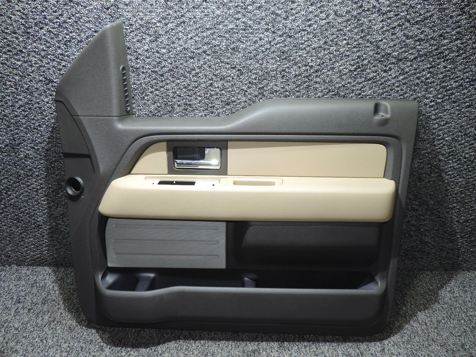 2011-2014 F150 F-150 BLACK & ADOBE CREW CAB RIGHT FRONT DOOR PANEL CL34-1823942
