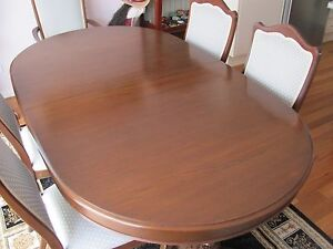 Extending Dining Table and Chairs Tuncurry Great Lakes Area Preview