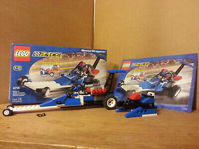 Lego 6714 Speed Dragster Complete w/ Instruction and Box