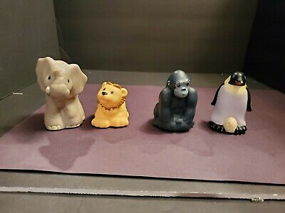 Fisher Price Little People Animals lot of 4 Zoo Talkers Elephant Gorilla Penguin