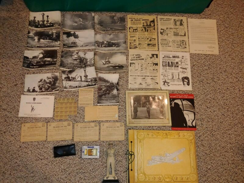Vintage 40s Military WWII Photos,Pictures,Photo Art,Album,Victorville Book,Navy