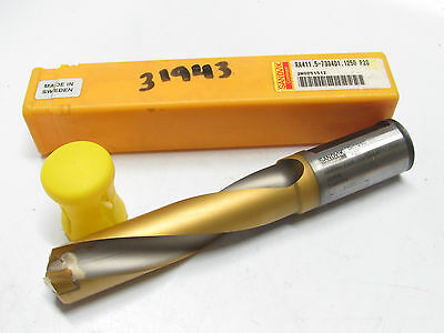 New Sandvik Ra411.5-7334d1.1250 P20 1-18 Coolant-through Oil Thru Delta Drill