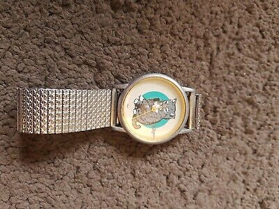 Citreon Quartz Cat Watch With Mouse Second Hand