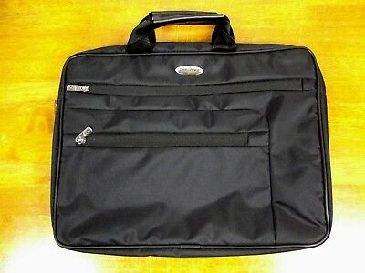 Samsonite Black Nylon Classic Business Laptop Briefcase Notebook Carrying Case
