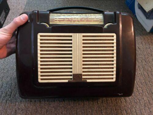 Rare Vintage HMV Gramophone Co 5311 Valve tube portable Radio - 1950