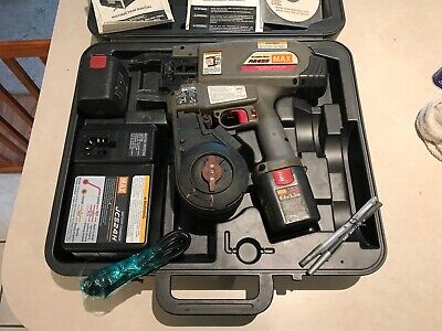 Max Re-bar-tier Rb655 Cordless Tying Tool Wcase Charger 2 9.6v Batteries