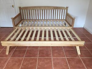 Day bed. Single bed, oak wood. Double bed. Fold out. Couch Berwick Casey Area Preview