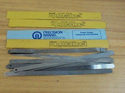 Machinist Tool Starrett Precision Brand Feeler Stock Gauge .002015.006 Plus