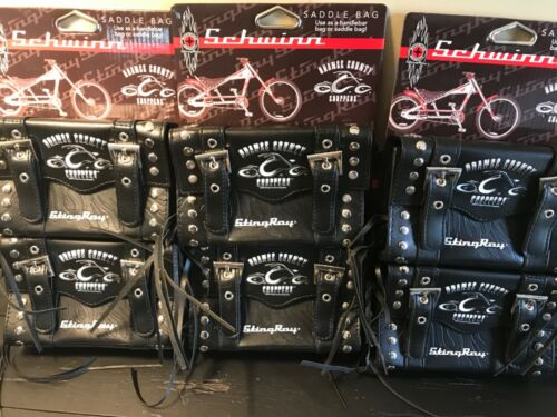 Case of 6 Schwinn StingRay Handlebar Saddle Bag Orange County Choppers