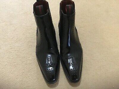 Worn Twice Mens Jeffery West Black Smart Chelsea Boots size 7