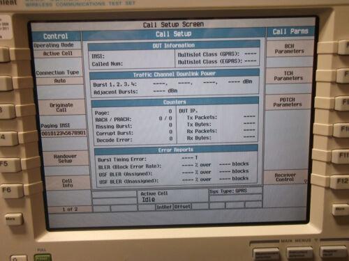 AGILENT 8960 WIRELESS COMMUNICATION TEST SET E5515C GSM/GPRS SURPLUS