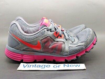 Women s Nike Dual Fusion ST2 Dark Grey Pink Orange Running 454240-066 sz 9.5 2a1e78439