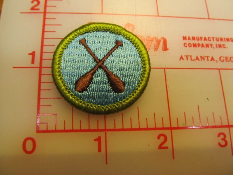 CANOEING merit badge plastic backed patch (oP)
