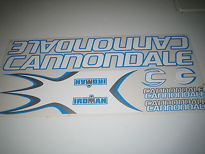 """Cannondale RAVEN Frame//Fork? Decal Stickers BLUE//RAINBOW Set of 2 7 3//4/"""" Inch"""