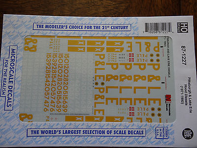 Microscale Decal HO  #87-1227  Pittsburgh & Lake Erie Diesels
