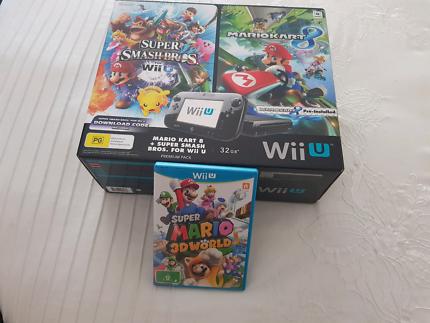 Nintendo WiiU Super Mario Premium Pack plus Receipt