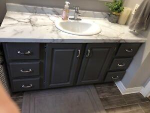 Bathroom vanity and countertop/sink