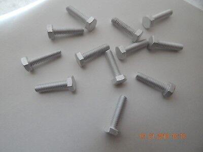 Aluminum Hex Cap Screws 14-20 X 1. 12 Pcs. New
